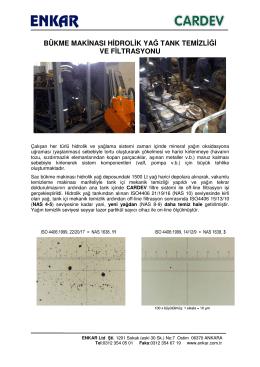 bükme makinası hidrolik yağ tank temizliği ve filtrasyonu