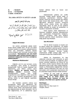 islamda düğün adabı