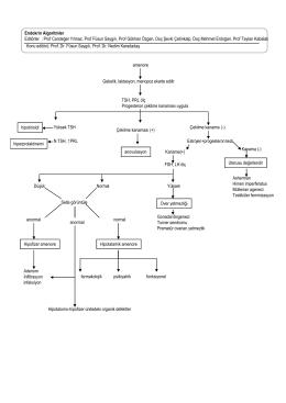 Endokrin Algoritmler Editörler : Prof Candeğer Yılmaz, Prof Füsun