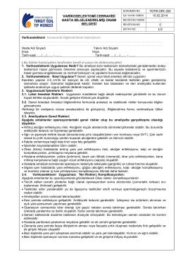 varikoselektomi cerrahisi hasta bilgilendirilmiş onam belgesi