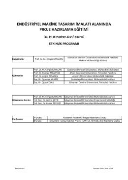 Eğitim Proğramı | PDF - Süleyman Demirel Üniversitesi