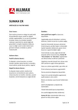 SUMAX CR - Allmax Yapı Kimyasalları