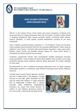 ders çalışma sürecinde anne babanın rolü