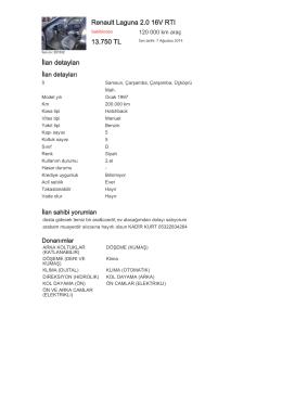 Renault Laguna 2.0 16V RTI 13.750 TL İlan detayları