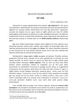 Devamı İçin… - Prof. Dr. Abdulhakim Yüce
