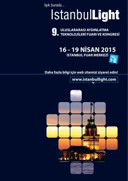 Broşür - İSTANBUL LIGHT Uluslararası Aydınlatma Teknolojileri