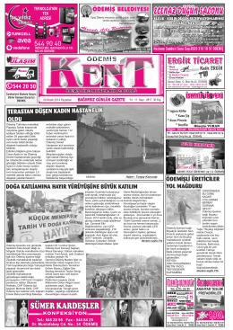 08-12-2014 Tarihli Kent Gazetesi