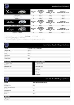 Lancia Mayıs 2014 Fiyat Listesi Lancia Ypsilon Mayıs 2014