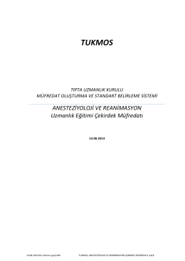 TUKMOS - Tıpta Uzmanlık Kurulu