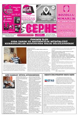 29.09.2014 Tarihli Cephe Gazetesi