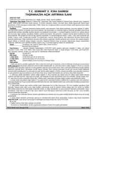 tc edremit 2. icra dairesi taşınmazın açık artırma ilanı