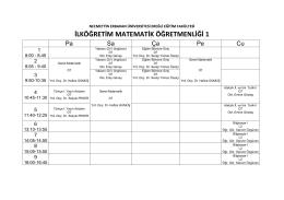 ilköğretim matematik öğretmenliği 1