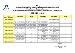 205-MTA 1. Sınıf - Ataşehir Adıgüzel Meslek Yüksekokulu