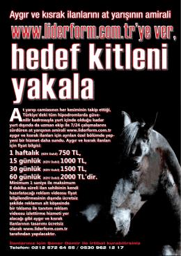 Aygır ve kısrak ilanlarını at yarışının amirali