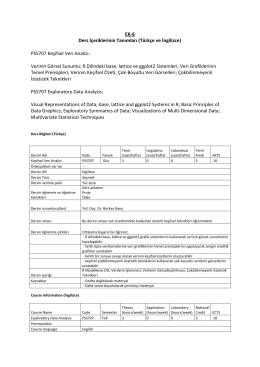 PSS707 Keşifsel Veri Analizi