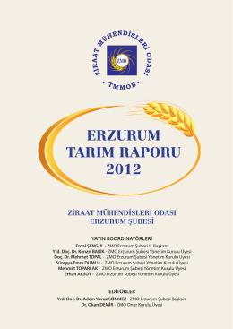 Erzurum 2012-2013 Tarım Raporu