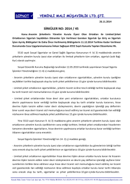 sırk 2014-45 limited şirket ortakları ve a.ş yönetim