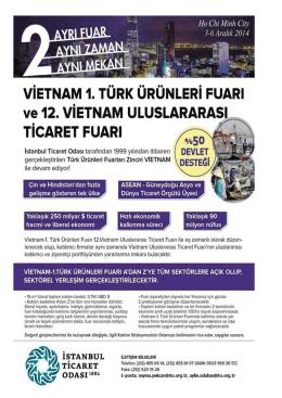 VİETNAM-1. TÜRK ÜRÜNLERİ FUARI (Genel Ticaret)