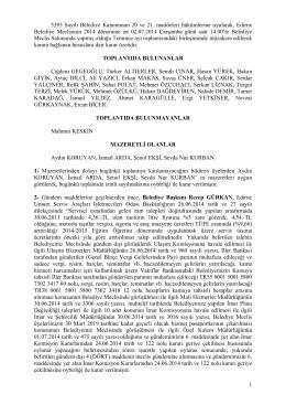 1 5393 Sayılı Belediye Kanununun 20 ve 21. maddeleri hükümlerine