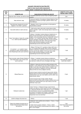Hizmet standarları_tablosu - İdari ve Mali İşler