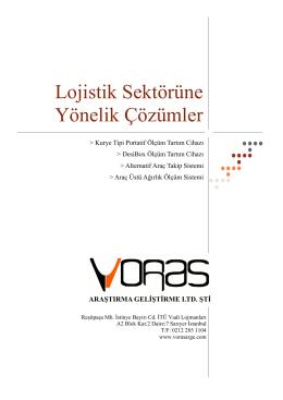 Lojistik Çözümlerimiz - Voras Ar-Ge