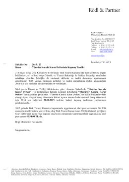 Sirküler No: 2015 / 23