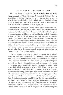 TAMAMLAYICI VE DESTEKLEYİCİ TIP Prof. Dr. Vural