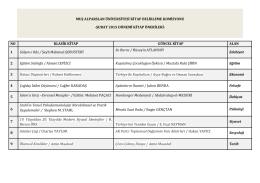 Şubat Ayı Kitap Önerisi - Muş Alparslan Üniversitesi