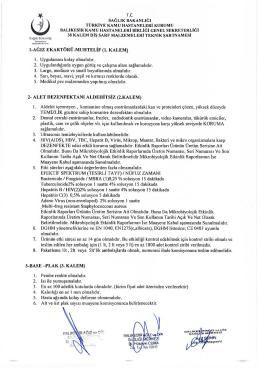 1. KALEM - Sağlık Bakanlığı