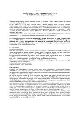 Sözleşmeli Zabıt Katibi Alımı Sınav İlanı - Bandırma Adliyesi