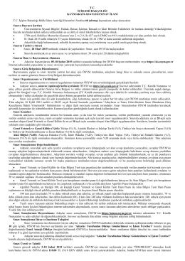 Ek - 1 : 2015 Kaymakam Adaylığı Sınav İlanı