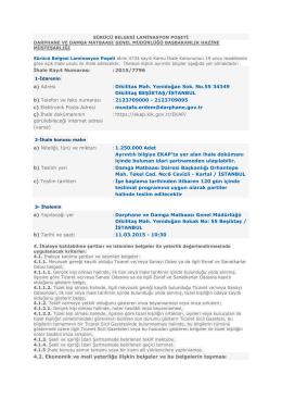 İhale Kayıt Numarası - Darphane ve Damga Matbaası Genel
