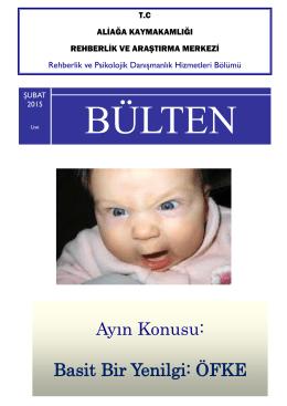 RPDH BÜLTENİ ŞUBAT 2015 Lise