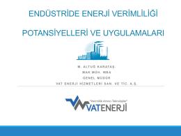 sanayide enerji tasarrufu çalışmalarının önemi ve buhar sistemleri
