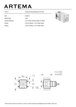 Tanım : Ankastre Duş Bataryası-Sıva Altı Kod : A42213
