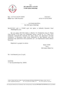 2-Valilik Yazısı - Diyarbakır İl Milli Eğitim Müdürlüğü