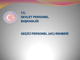 geçici personel (4/c) rehberi - Başbakanlık Devlet Personel Başkanlığı