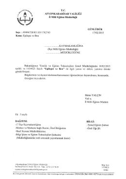 tarihi15 haziran 2015 - Afyonkarahisar Milli Eğitim Müdürlüğü