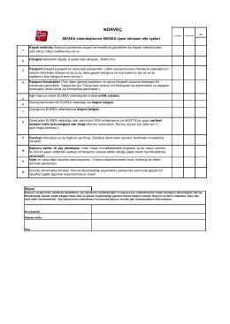 Checklist EU EEA Aile Serbest