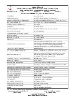 01 - Kartal Koşuyolu Yüksek İhtisas Eğitim ve Araştırma Hastanesi