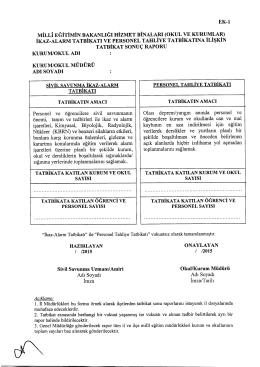 Müdürlüğümüzün konu ile ilgili 24/02/2015 tarih ve 2072826 sayılı
