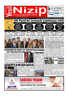 BEK R KAVLAK - Yeşil Nizip Gazetesi