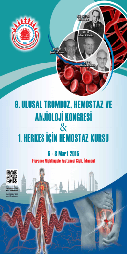 9. ulusal tromboz, hemostaz ve anjioloji kongresi 1. herkes için