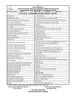 04.03.2015 - Kartal Koşuyolu Yüksek İhtisas Eğitim ve Araştırma