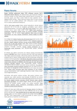 Halk Yatırım Günlük Bülteni 03.03.2015