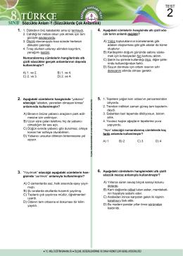 türkçe test 2