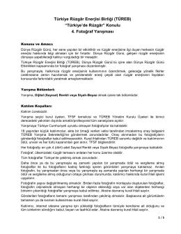 """Türkiye Rüzgâr Enerjisi Birliği (TÜREB) """"Türkiye`de Rüzgâr"""