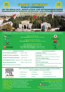 conference flyer - World Conference on Technology, Innovation and