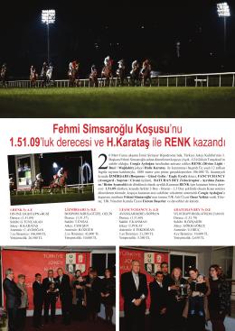Fehmi Simsaroğlu Koşusu`nu 1.51.09`luk derecesi ve H