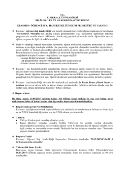 tc kırıkkale üniversitesi dış ilişkiler ve ab koordinasyon birimi